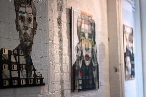 Nick Gentry : Floppy's Disks Art 4 • Recycled Art