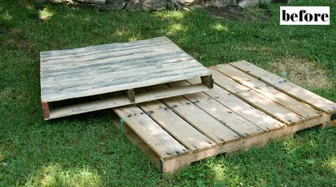 Toddler Pallet Bed 3 • Do-It-Yourself Ideas