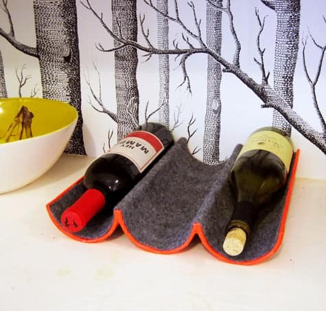 Diy: Wine Rack Made Out Of Mailing Tube 1 • Do-It-Yourself Ideas