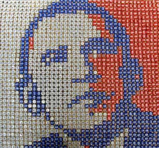 Obama Portrait Made Out Of 1600 Upcycled Bottle Caps 1 • Recycled Art