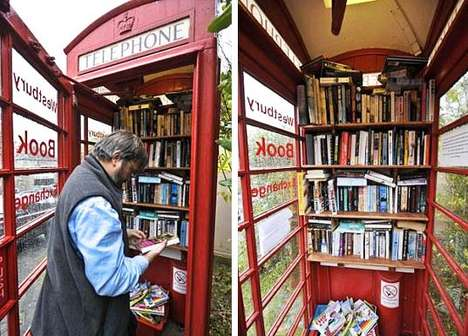 Phone Booth Library 1 • Interactive, Happening & Street Art