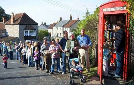 Phone Booth Library 2 • Interactive, Happening & Street Art