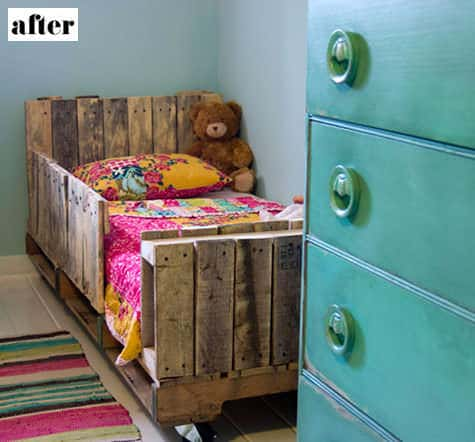 Toddler Pallet Bed 5 • Do-It-Yourself Ideas