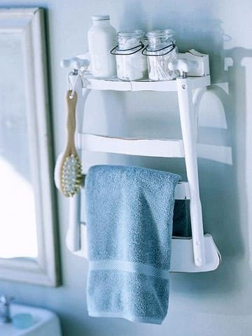 Diy: Bathroom Shelf From Old Chair 1 • Do-It-Yourself Ideas