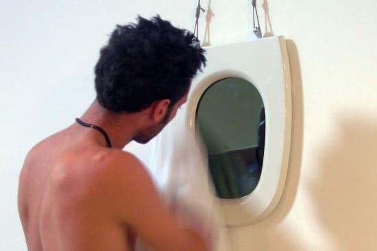 Toilet Seat Mirror 1 • Recycled Plastic