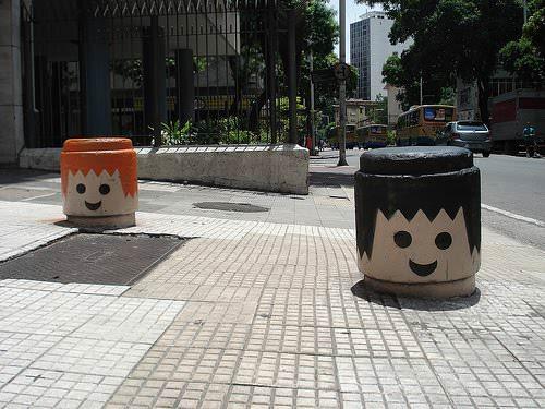 Urban Playmobil Heads 1 • Interactive, Happening & Street Art