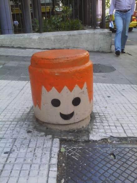 Urban Playmobil Heads 3 • Interactive, Happening & Street Art