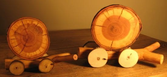 Wooden Snail Family 1 • Wood & Organic
