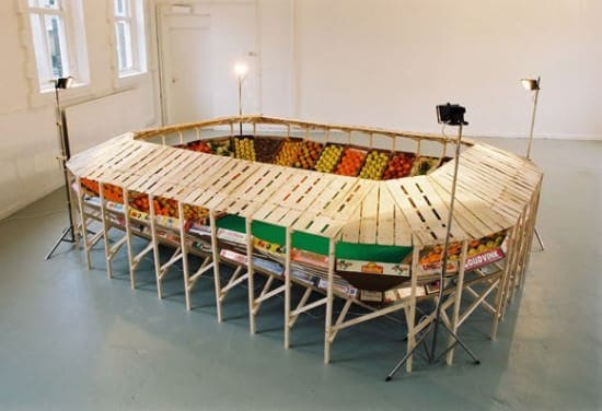 Vegetable Stadium 1 • Recycled Art