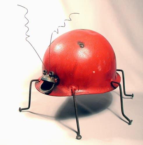 Helmet Animals 2 • Recycled Art