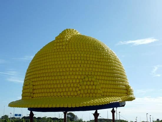 Giant Helmet Sculpture (2nd Guinness World Record) 2 • Recycled Plastic
