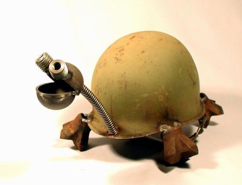 Helmet Animals 3 • Recycled Art