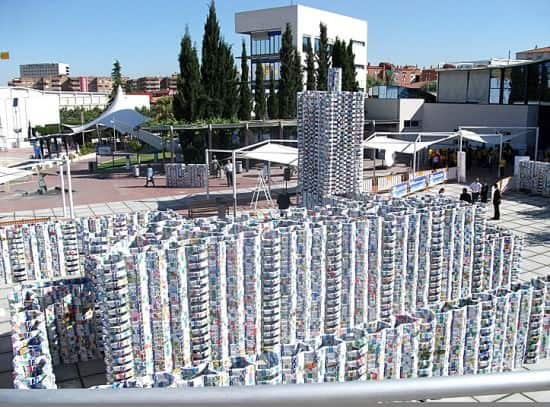 Castle Made From 50,000 Upcycled Milk Cartons (Guinness World Record) 1 • Interactive, Happening & Street Art