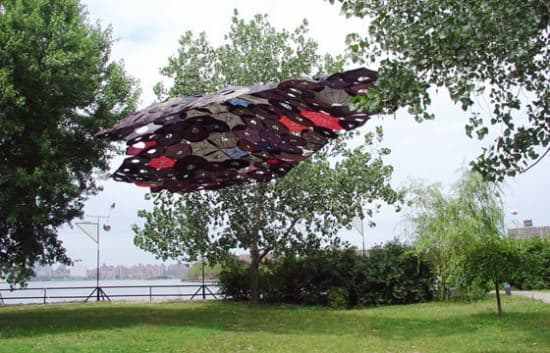 Penumbrella: Canopy Of Recycled Umbrellas 1 • Interactive, Happening & Street Art