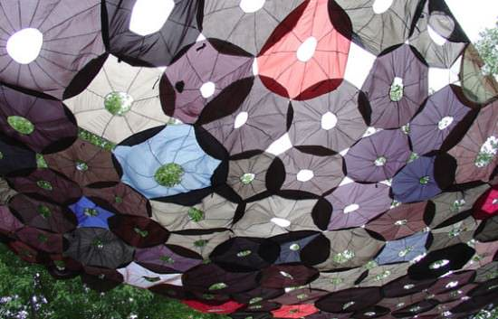 Penumbrella: Canopy Of Recycled Umbrellas 2 • Interactive, Happening & Street Art