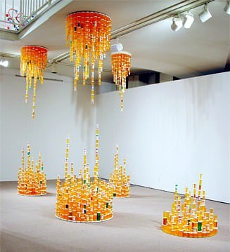 Chemical Balance: Made With Thousands Of Empty Pill Bottles 3 • Recycled Art