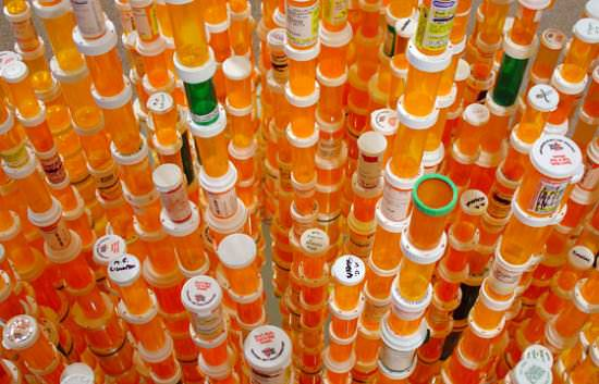 Chemical Balance: Made With Thousands Of Empty Pill Bottles 1 • Recycled Art