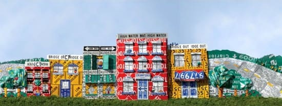 Read Between The Signs: Fences Made Out Of Discarded Road Signs 2 • Interactive, Happening & Street Art