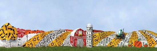Read Between The Signs: Fences Made Out Of Discarded Road Signs 5 • Interactive, Happening & Street Art