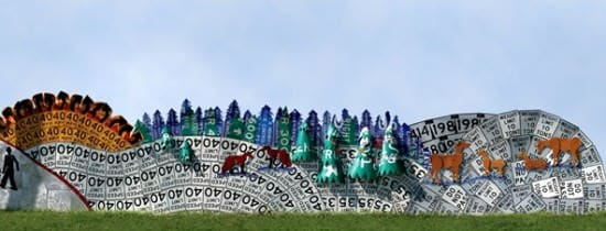 Read Between The Signs: Fences Made Out Of Discarded Road Signs 7 • Interactive, Happening & Street Art