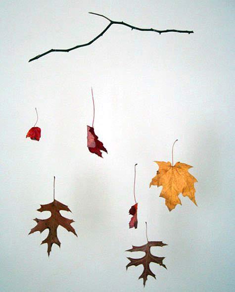 Diy: Leaf Mobile 1 • Do-It-Yourself Ideas