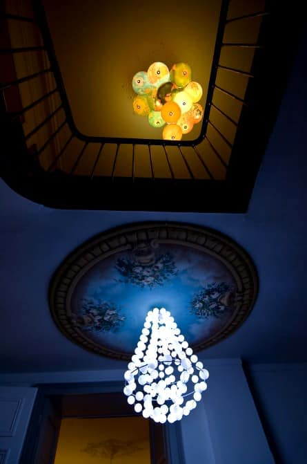 World Inside Out: A Chandelier Made Out Of Recycled World Globes 2 • Lamps & Lights