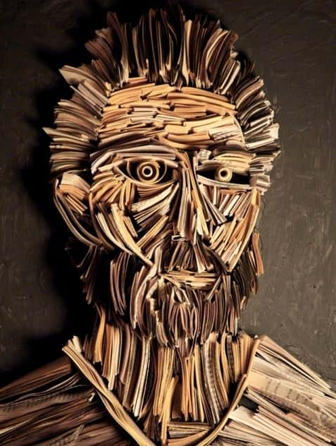 Paper Works by Nick Georgiou 7 • Recycled Art