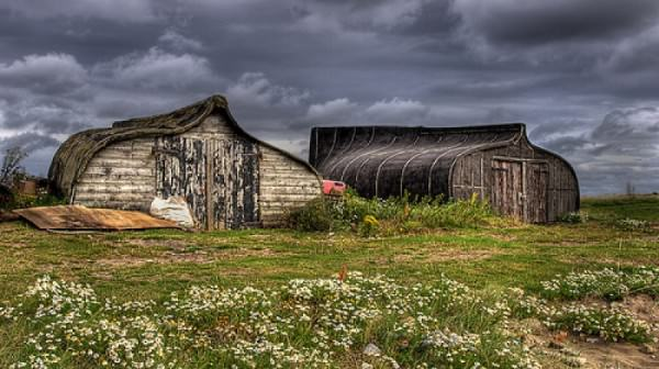 repurposed boat sheds on Holy Island 01