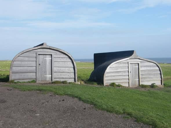 repurposed boat sheds on Holy Island 02