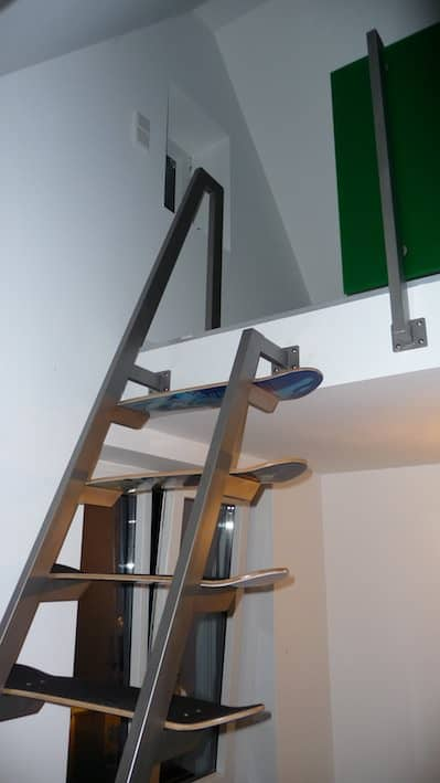 Skateboard Deck Stairs 5 • Recycled Sports Equipment