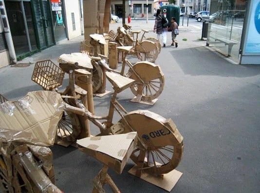 Cardboard Bike Station 1 • Interactive, Happening & Street Art