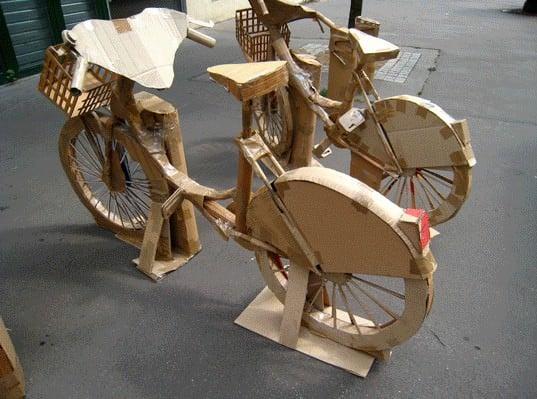 Cardboard Bike Station 2 • Interactive, Happening & Street Art