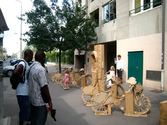 Cardboard Bike Station 5 • Interactive, Happening & Street Art