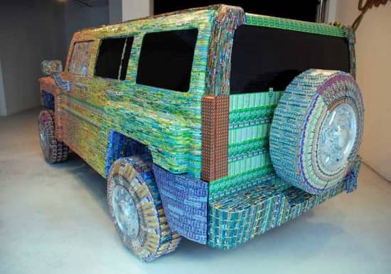 From Lottery Ticket To Sculptures 2 • Recycled Art