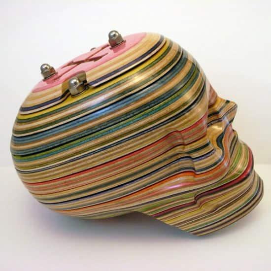 Skateboard Art 1 • Recycled Art