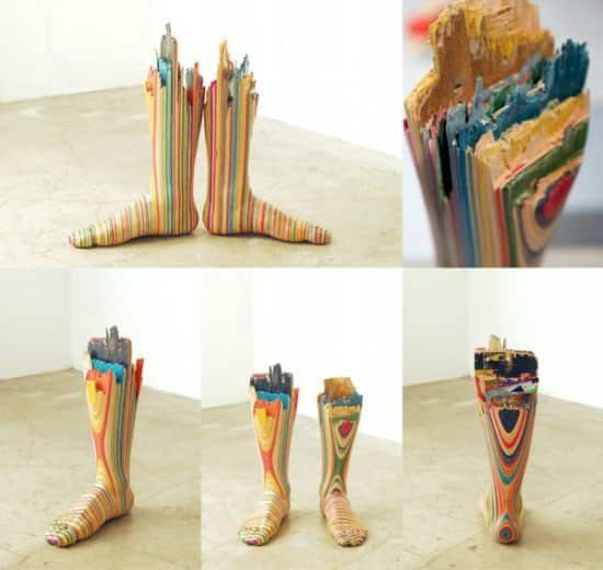 Skateboard Art Recycled Art Recycled Sports Equipment