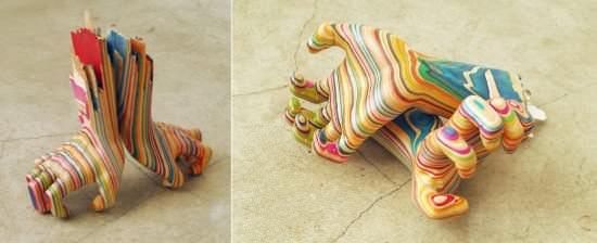 Skateboard Art 2 • Recycled Art