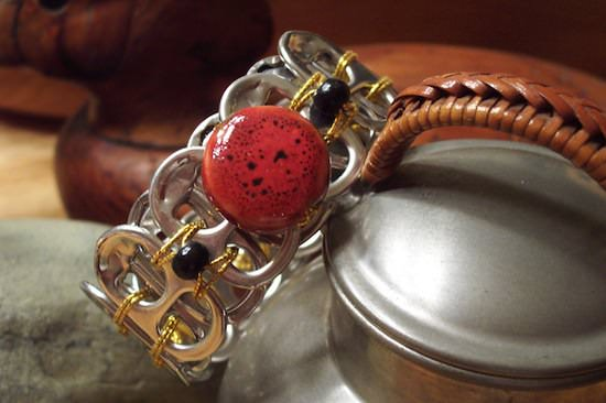 Upcycled Can Tabs Into Jewelry 2 • Upcycled Jewelry Ideas