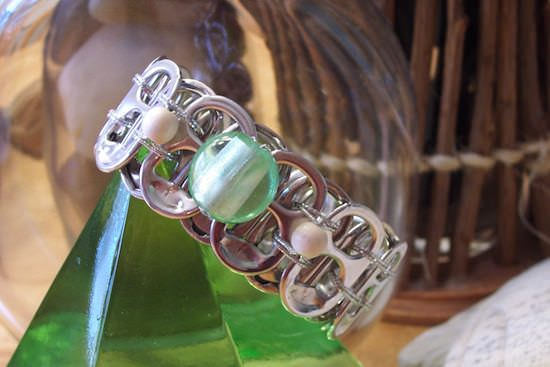 Upcycled Can Tabs Into Jewelry 3 • Upcycled Jewelry Ideas