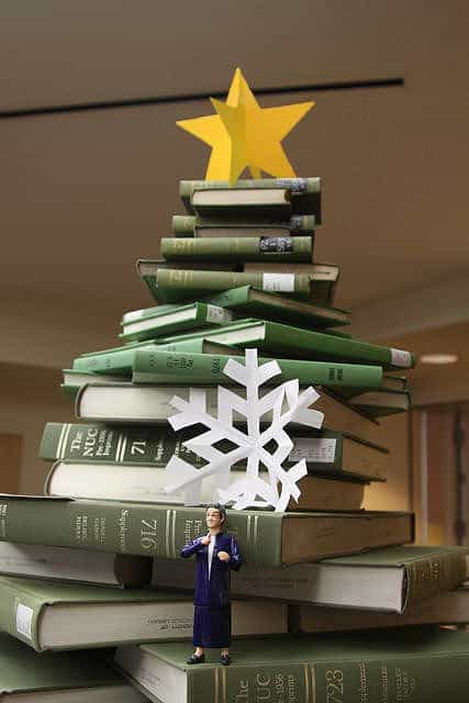 Book Christmas Tree Recycling Paper & Books