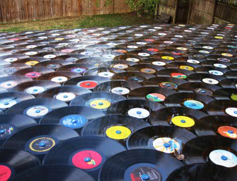 Roof Shingled With Old Lp Records 3 • Home Improvement