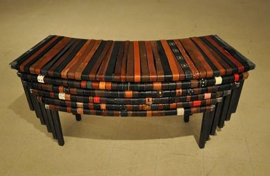 The One Thousand Belts Bench 2 • Recycled Furniture