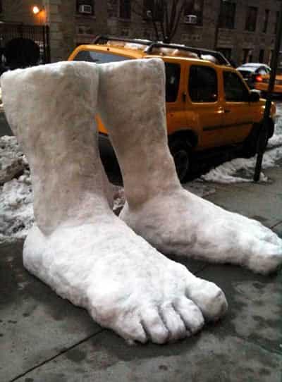 2 Feet of Snow in Nyc 1 • Interactive, Happening & Street Art