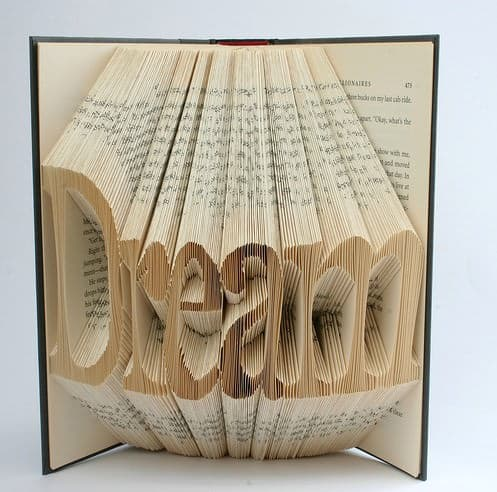 Book Origami 1 • Recycled Art