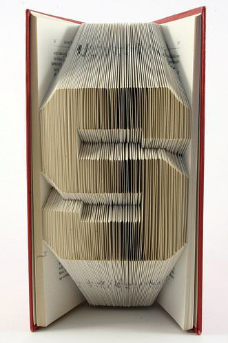 Book Origami 3 • Recycled Art