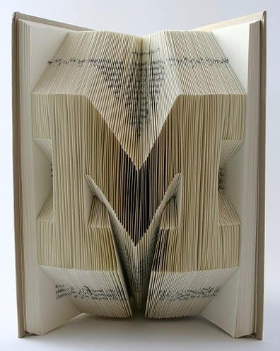Book Origami 4 • Recycled Art