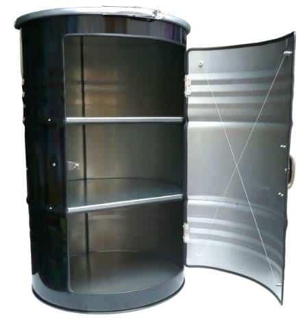 Metal Barrel Cupboard 7 • Recycled Furniture
