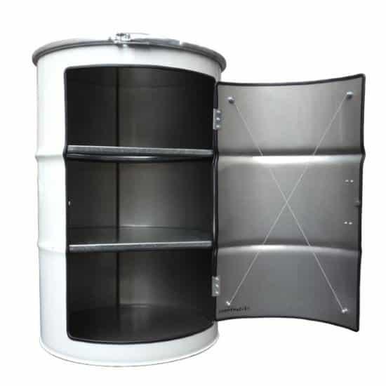 Metal Barrel Cupboard 1 • Recycled Furniture