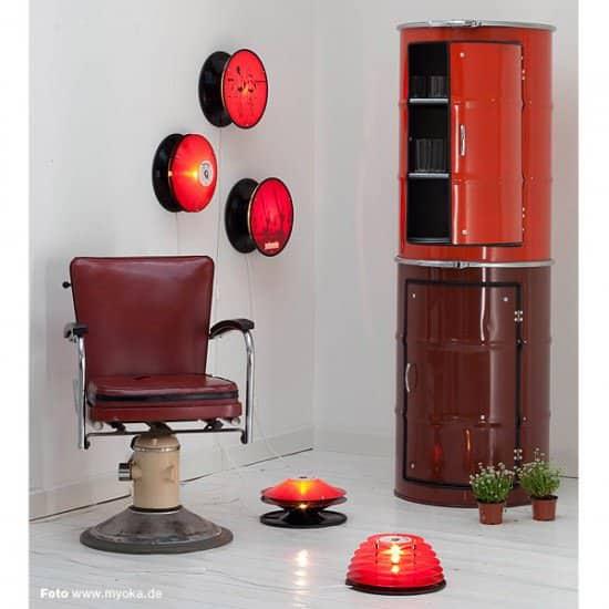 Metal Barrel Cupboard 5 • Recycled Furniture