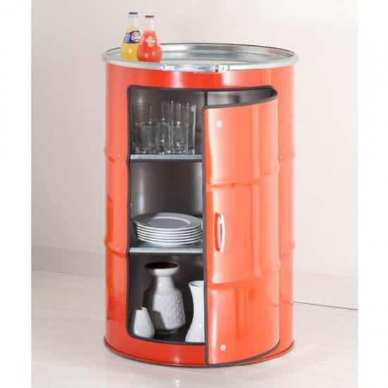 Metal Barrel Cupboard 4 • Recycled Furniture